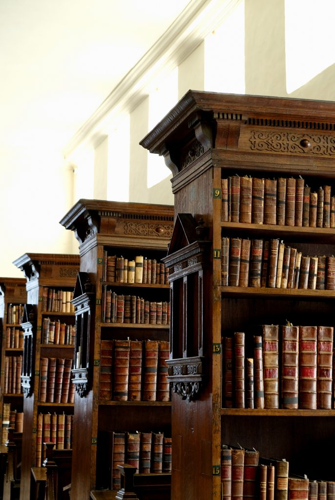 Bookcases in the Fellows' Library