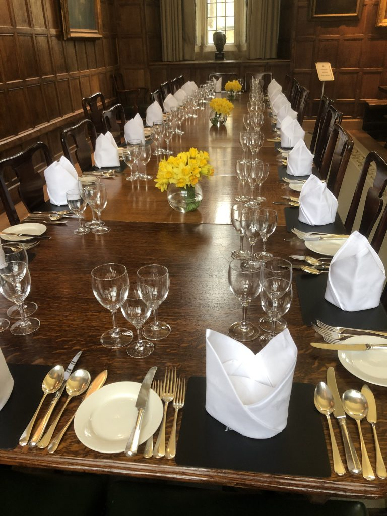 Top table ready for dinner