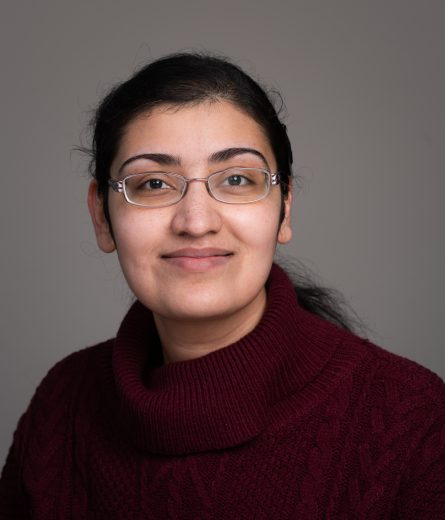 Dr Suchandrima Das - wearing purple top