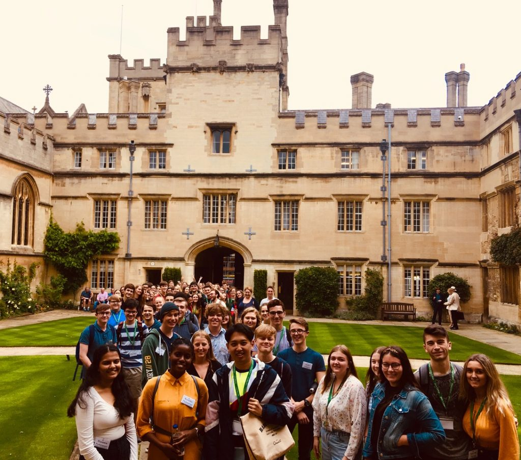 School pupils visiting Jesus College as part of one of our summer schools
