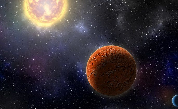 Image of an exoplanet with its star